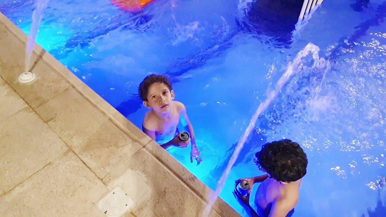 زيارتنا لشاليهات آسر وسامر تحمسو ونزلو المسبح بالبيبسي 606 Youtube