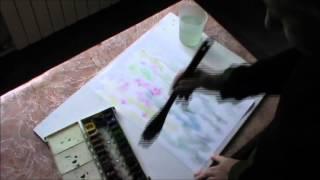 Как рисовать цветы акварелью по сырому.(Четкий и понятный мастер-класс. Для