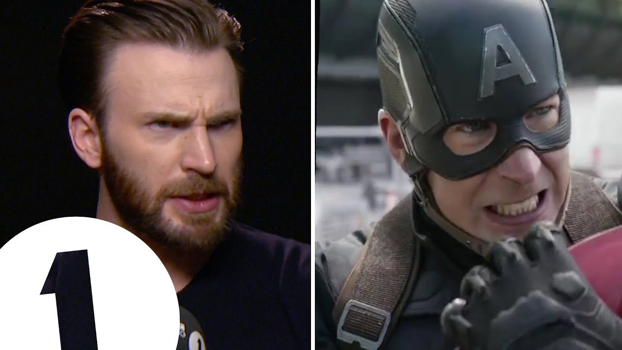 Chris Evans Shows Off Captain America S Angry Eyeball Acting Youtube