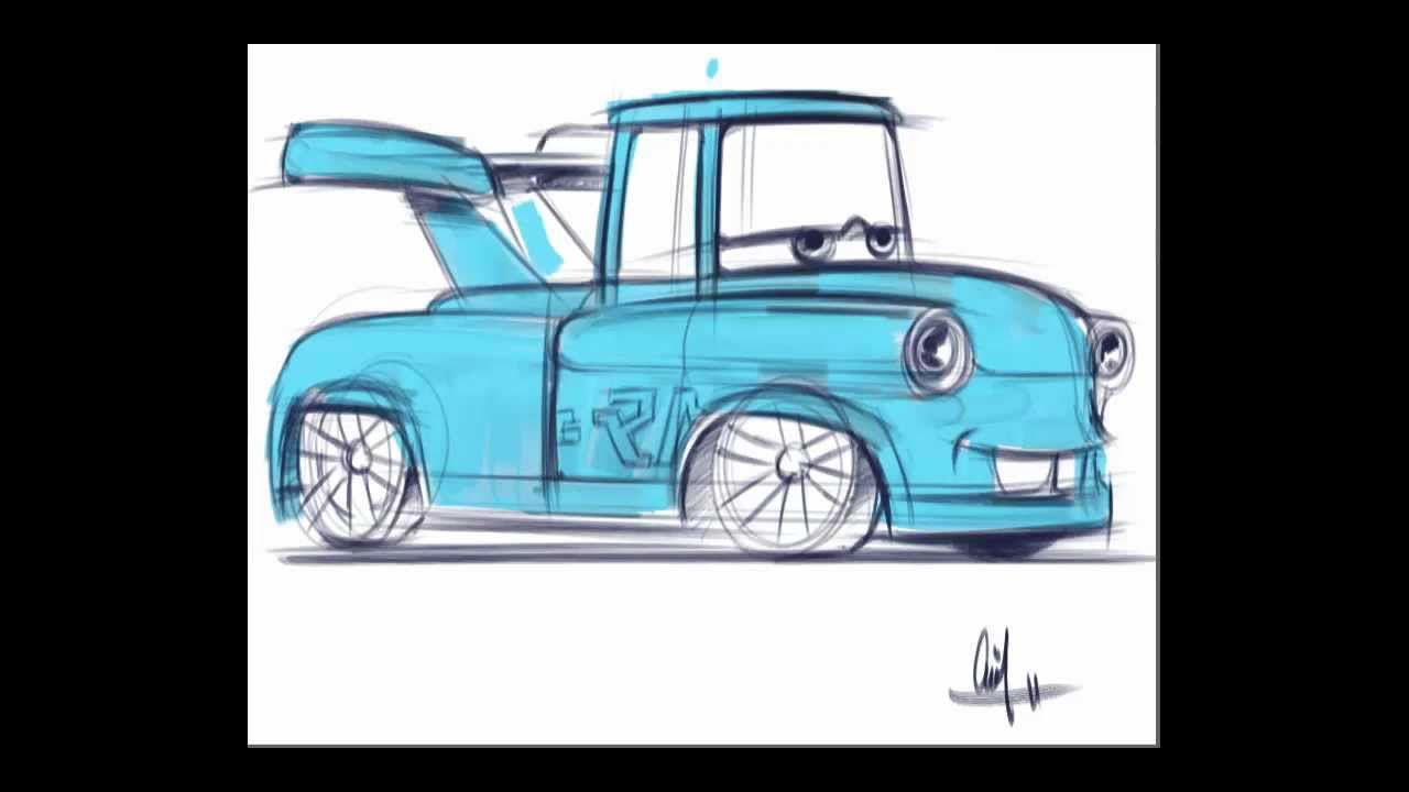 Mater Cars Drawing
