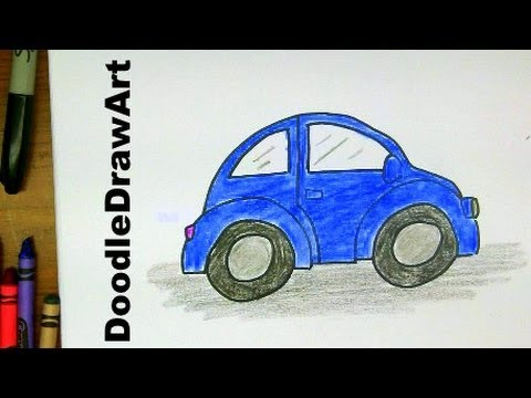 How To Draw A VW Beetle - Slug Bug - Punchbuggy - Easy Drawing Lesson
