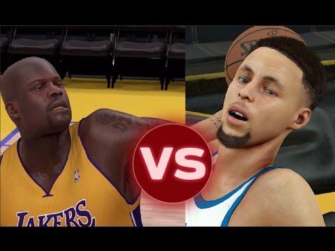 Can Steph Curry Hit A Full court Shot Before Shaq Can Hit A Three Pointer? NBA 2K17