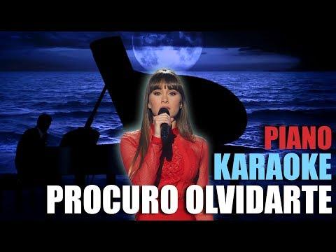 PROCURO OLVIDARTE - Aitana 🎹 Piano Karaoke + Partitura 👡 OT 2017