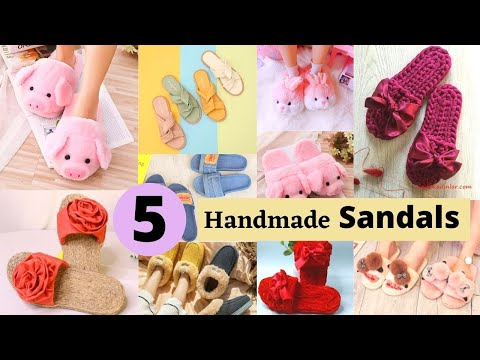 5 Handmade Sandals And Flip Flops From Old Slippers And Cardboard