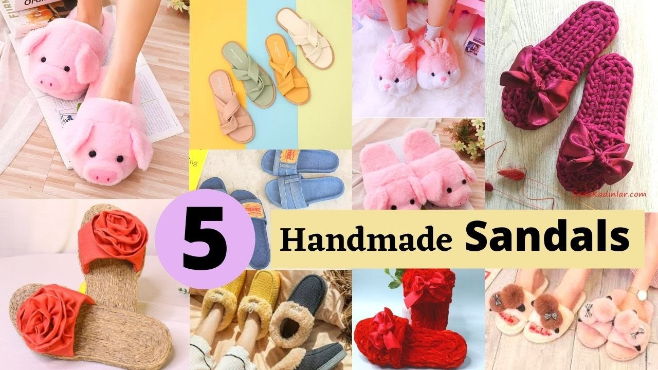 Download 5 Handmade Sandals And Flip Flops From Old Slippers And Cardboard