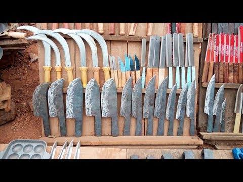 Meat Cleaver Making Process   Mutton Knife   How to Make Meat Cleaver   Knife Making On Road Side