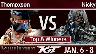KIT17  - BH | Thompxson (Jago) vs Circa | Nicky (Fulgore) Top 8 Winners - Killer Instinct