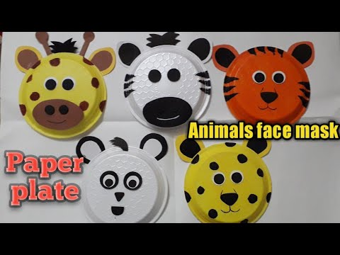 How to make paper plate animals face mask | animals mask