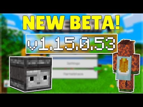 MCPE 1.15.0.53 BETA JAVA FEATURES! Minecraft Pocket Edition Capes & Redstone Changes