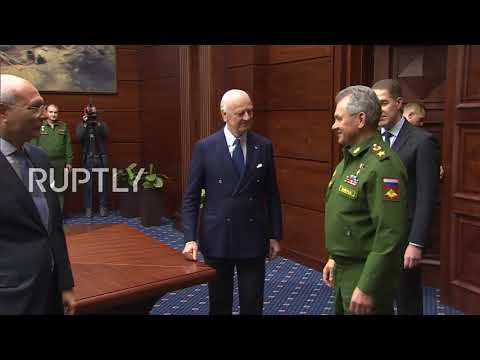 Russia: Shoigu and de Mistura discuss relaunch of Geneva talks on Syria