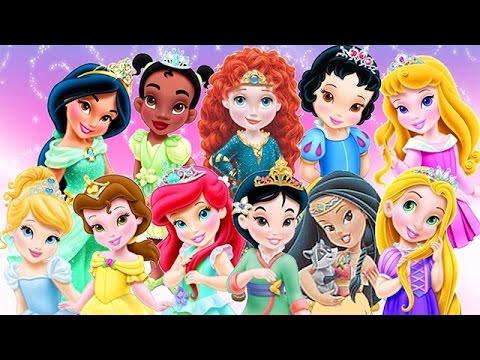 Baby Disney Princess Game Cartoons Disney Princess Baby Video Games Youtube