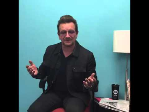 Bono answering Qs on his recent trip to refugee camps in Kenya & the Middle East