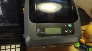 Review & Setup of a Zebra GX420d Wireless Thermal Label Printer ~WiFi Configuration & Drivers