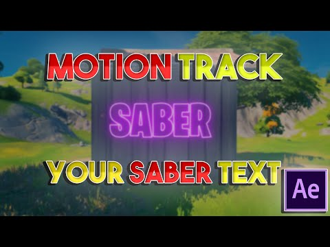 MOTION TRACK YOUR SABER text in AFTER EFFECTS!