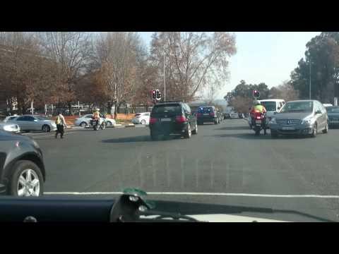 SA President Jacob Zuma Motorcade in Sandton (Convoy)