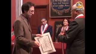Ceremonia de Incorporación del Dr. Harald Helfgott Seier como Profesor Honorario de la UNMSM