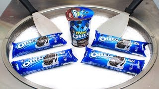 Yummy OREO ICE CREAM ROLLS | MACAROONS & KIWI Fried Ice Cream Rolls Making