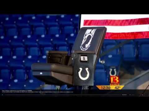 Lucas Oil Stadium POW*MIA Chair of Honor Dedication
