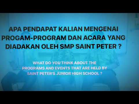 Saint Peter's Junior High School Interview 2
