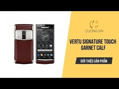 GÓC REVIEW | Trên tay Vertu Signature Touch Garnet Calf (Da bê đỏ)