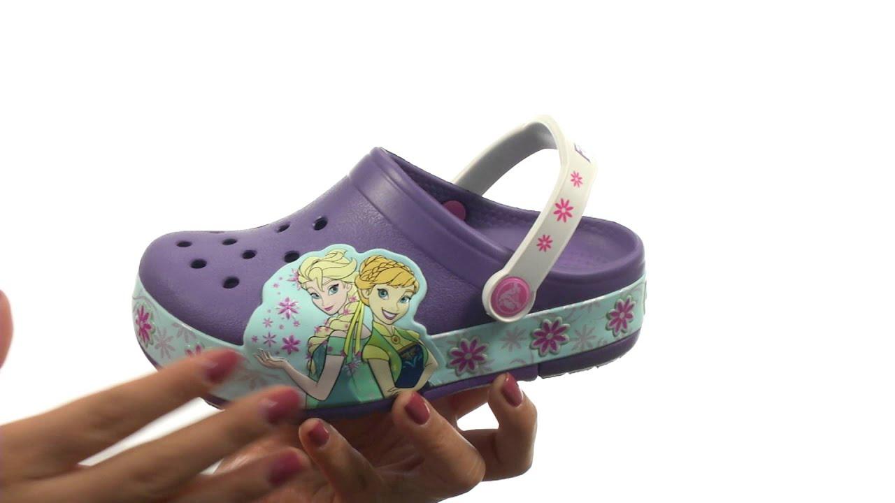 7436ff2e4ee96c Crocs Kids CrocsLights Frozen Fever Clog (Toddler Little Kid) SKU 8596107