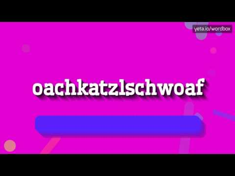 OACHKATZLSCHWOAF - HOW TO PRONOUNCE IT!?