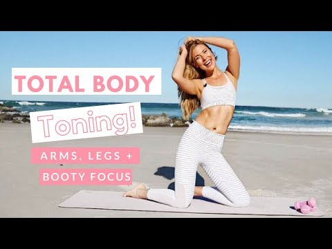 Total Body Toning   Pilates for Weight Loss   Summer Body Pilates 👙💖  Legs, Booty and Arms