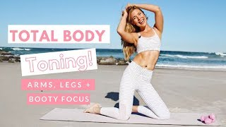 Total Body Toning | Pilates for Weight Loss | Summer Body with Bailey 👙💖  Legs, Booty and Arms