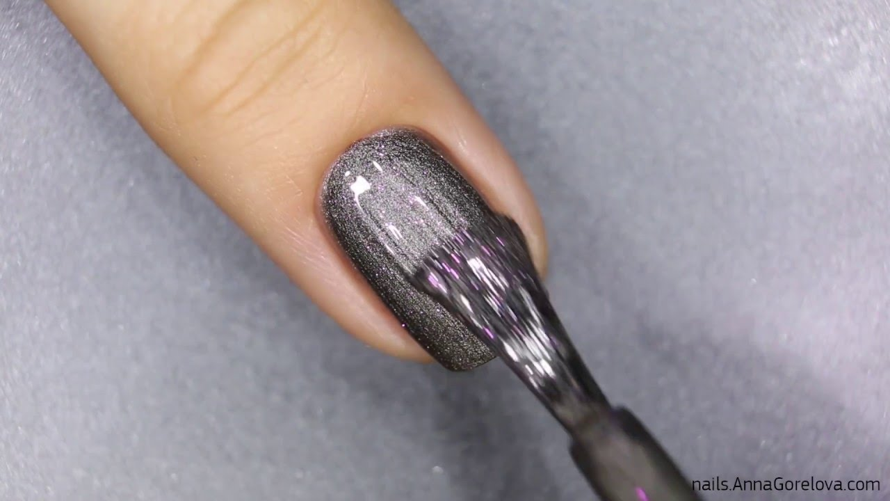 Spiral with magnetic nail polish and Magnetic Pen / Спираль на ...