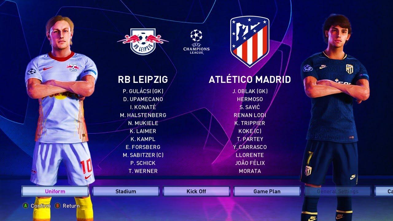 Efootball Pes 2020 Rb Leipzig Vs At Madrid Uefa Champions League 19 20 Gameplay Pc Youtube