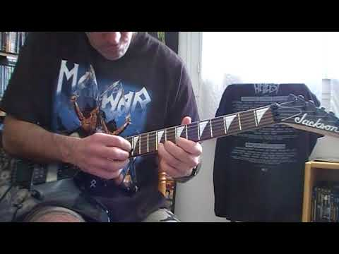 Manowar -  The gods made heavy metal (Guitar cover)