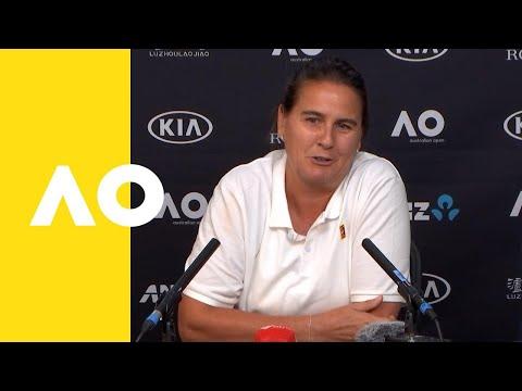 Conchita Martínez (Coach Of Karolína Plíšková) Press Conference (4R) | Australian Open 2019