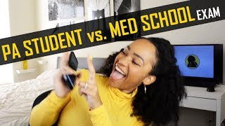PA School Student Tries Med School Exam Questions! || PA vs. MD