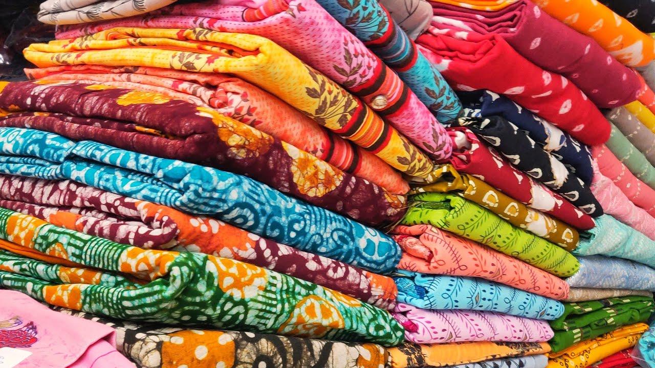 गर्मियों के कॉटन सूट   GST फ्री Latest Cotton ladies suit wholesale market delhi chandni chowk