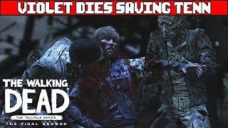 THE WALKING DEAD SEASON 4 EPISODE 4 Violet Dies Saving Tenn