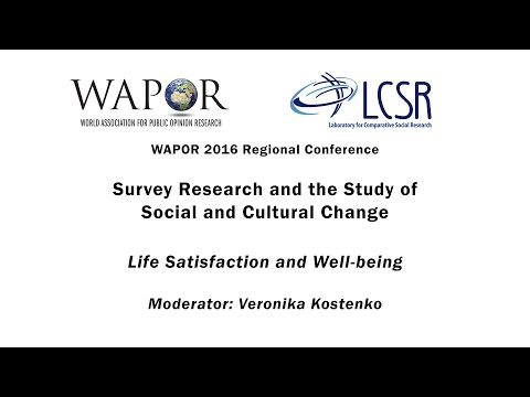 WAPOR 2016: Life Satisfaction and Well-being