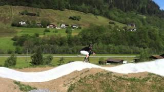 Pumptrack Jenaz on Inline Skates