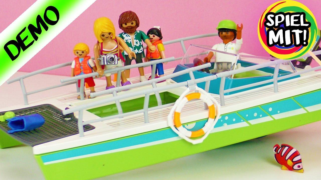 playmobil glasbodenboot mit unterwassermotor aufbau 9233 schiffahrt auf dem meer spiel mit mir. Black Bedroom Furniture Sets. Home Design Ideas