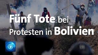 Fünf Tote: Proteste in Bolivien eskalieren