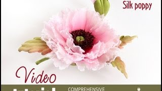 Video tutorial how to make silk poppy in japanese techniques