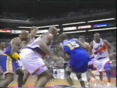 Charles Barkley Blocks Sprewell Two Times In a Row - YouTube