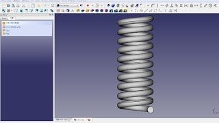 Freecad Mechanical Drawing Coil