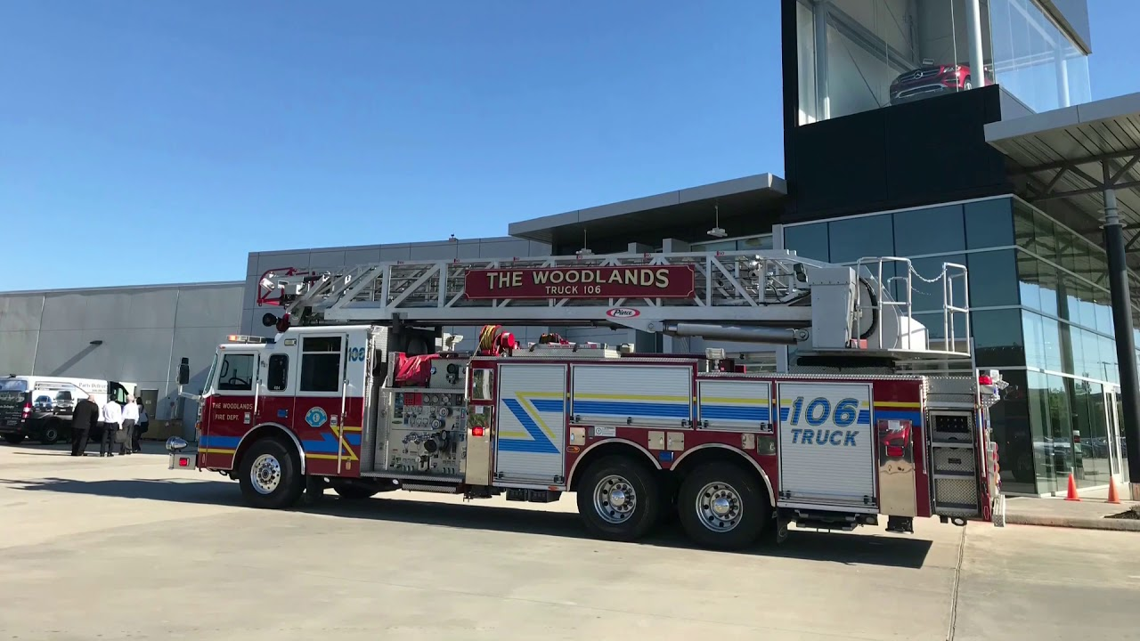 Fire Fighters at Mercedes-Benz of The Woodlands - YouTube