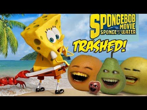 Annoying OrangeTHE SPONGEBOB MOVIE: SPONGE OUT OF WATER TRAILER Trashed!!