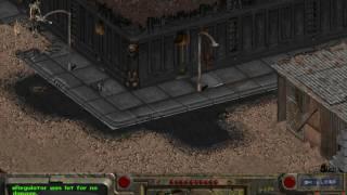 Fallout 1 - part 159 - battle in Boneyard - gameplay - hardest difficulty