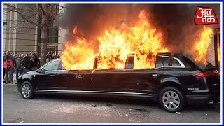 Limo, Another Vehicle Set On Fire During Inauguration Protests
