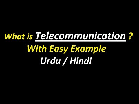 What is Telecommunication with Example ? Urdu / Hindi