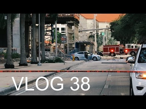 Miami Police VLOG 38: BUILDING COLLAPSES & LANDS ON CAR