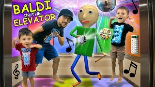 🎵 BALDI PARTY IN THE ELEVATOR🎵 + BALDI goes CAMPING w/ FGTEEV In Real Life & FNAF Ruins It!
