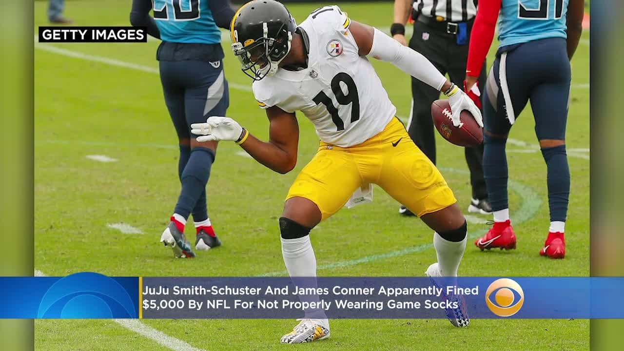 JuJu Smith-Schuster, James Conner Apparently Fined $5,000 By NFL For Not Properly Wearing Game Socks